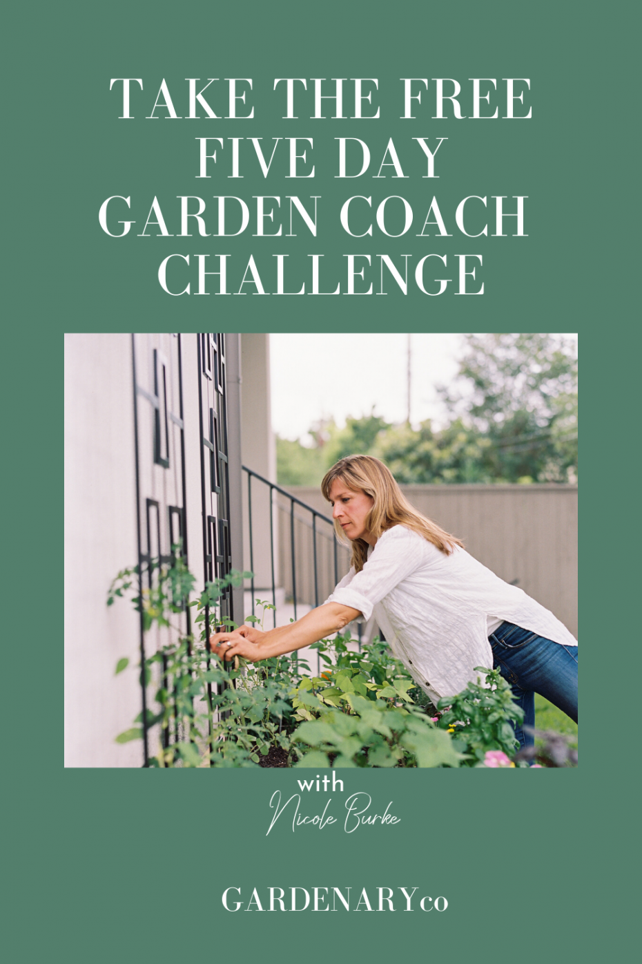 Free Garden Coach Challenge to learn how to create your own garden coach business